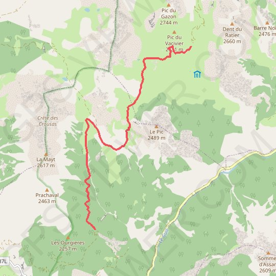 Queyras - Grand Coulet - Col Furfande GPS track