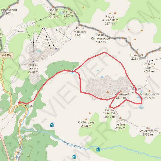 Anayet par canal Roya GPS track, route, trail