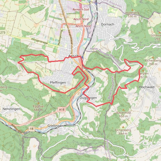 Aesch GPS track, route, trail