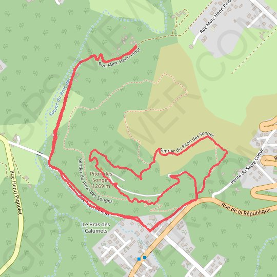 Piton des Songes (version courte) GPS track