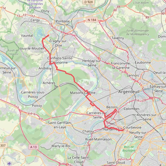 Defense - Cergy GPS track, route, trail