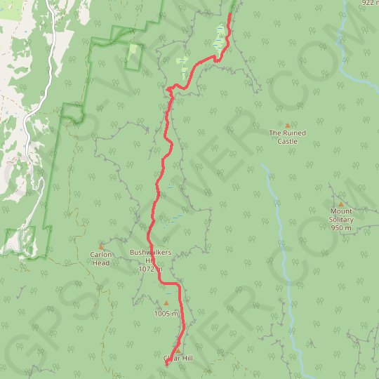 Narrow Neck Trail GPS track, route, trail