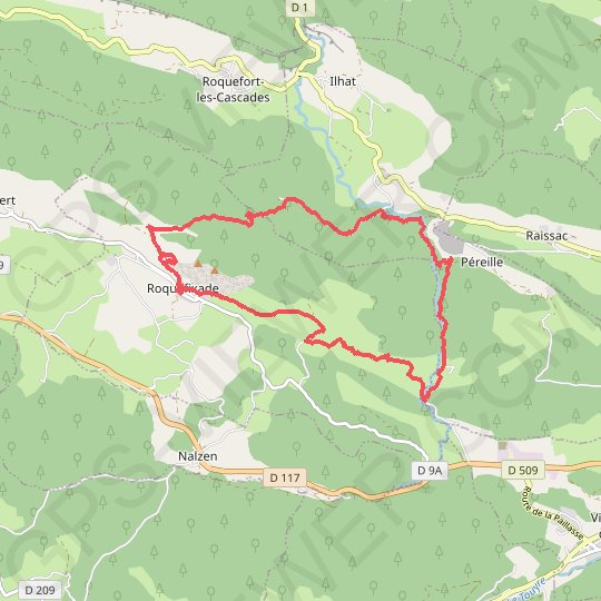 Boucle de Roquefixade GPS track, route, trail