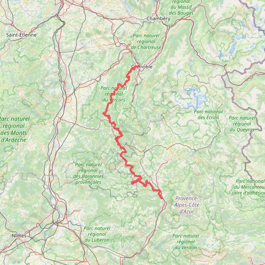 Grenoble - Sisteron GPS track, route, trail