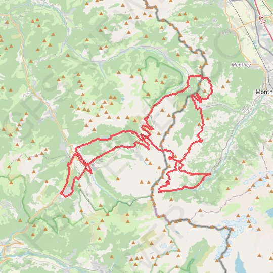 Enduro Tour Mountain Bike des Portes du Soleil GPS track, route, trail
