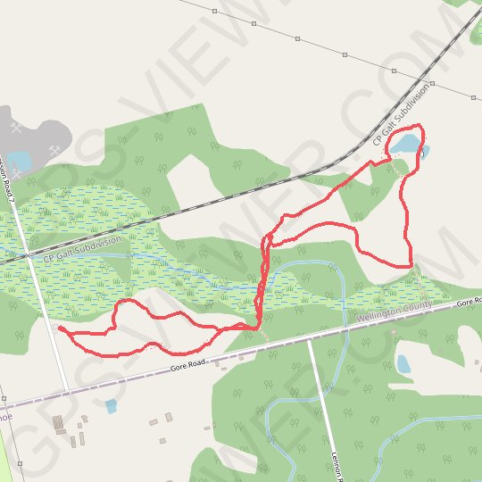 Fletchers Creek Ecological Preserve Loop GPS track, route, trail