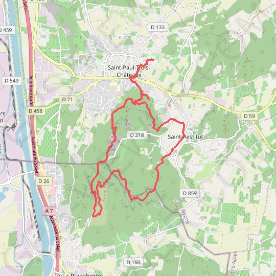 Marche trail truffieres GPS track, route, trail