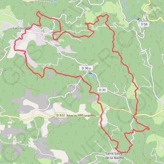 Ronde des rochers GPS track, route, trail