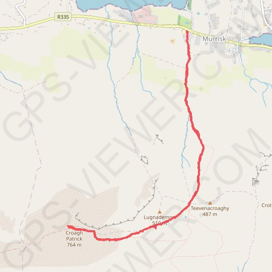 Croagh Patrick GPS track, route, trail