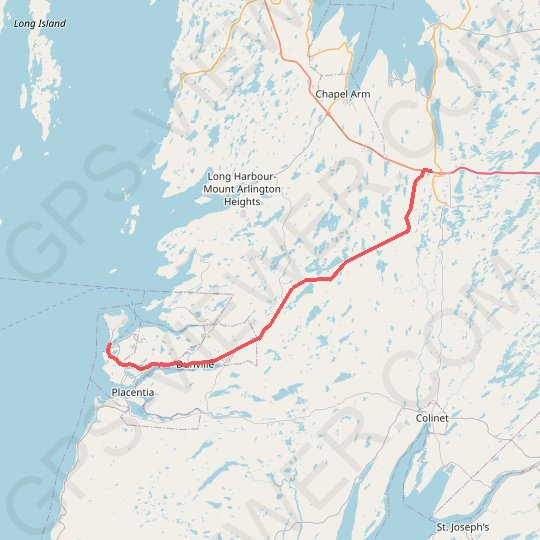 Argentia - Whitbourne GPS track, route, trail