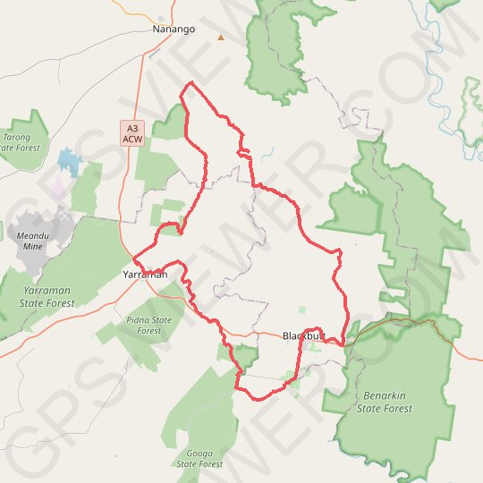 7 Mile Diggings - Nanango GPS track, route, trail