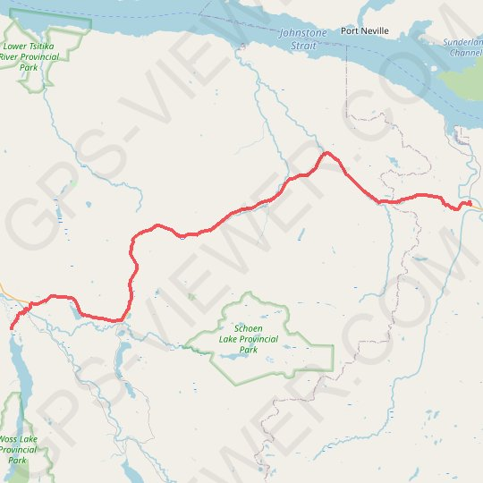 Sayward - Woss Lake GPS track, route, trail