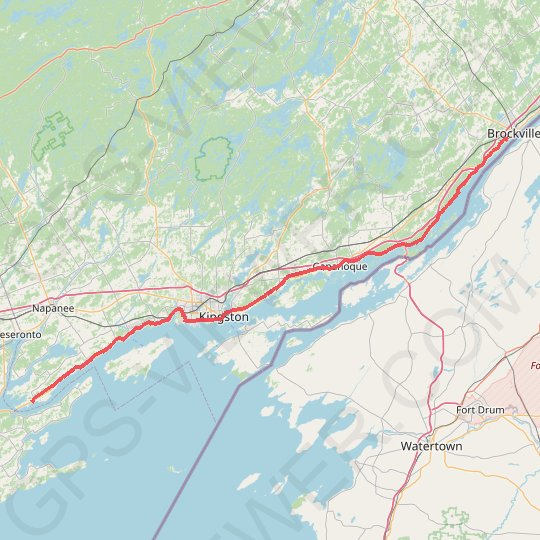 Adolphustown - Brockville GPS track, route, trail