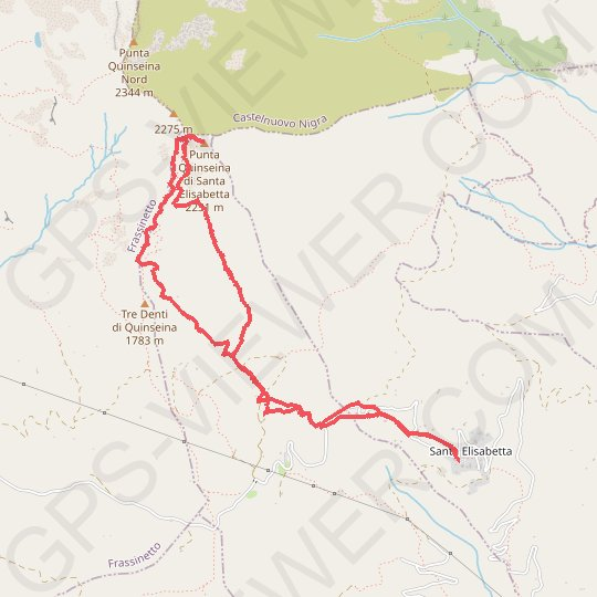 Quinseina (Punta Sud) GPS track, route, trail