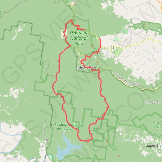 D'Aguilar National Park - Mount Nebo - Cabbage Tree Creek GPS track, route, trail