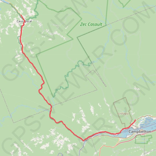 Causapscal - Campbellton GPS track, route, trail