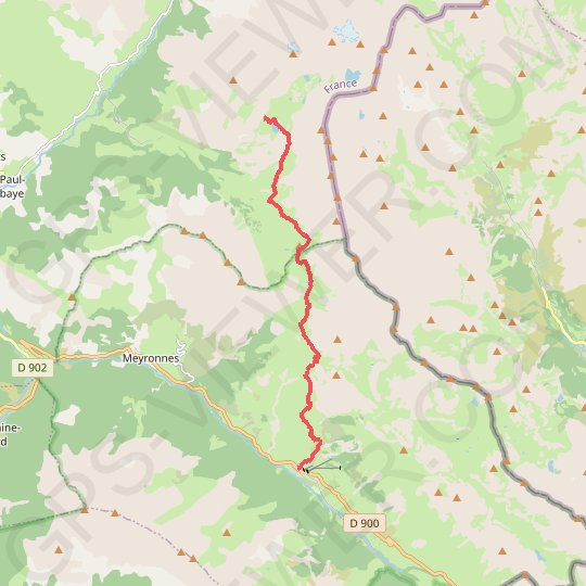 Val Maira - Chambeyron J7 - Ref Chambeyron-Larche GPS track, route, trail
