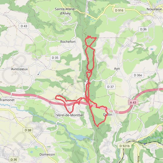Verel de Montbel (73) GPS track, route, trail