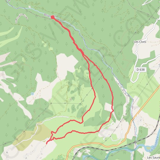 Les Chamousses - Torrent Le Couleau GPS track, route, trail