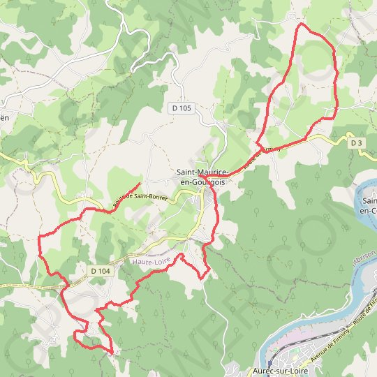 Saint-Maurice en Gourgois GPS track, route, trail